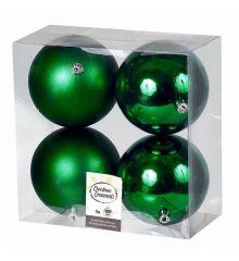 Χριστουγεννιάτικες Μπάλες Πράσινες - Σετ 4 τεμ. (10cm)