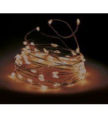 10 Gold Θερμά Φωτάκια LED Copper, με Μπαταρία (0.1m)
