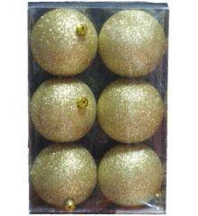 Χριστουγεννιάτικες Μπάλες Χρυσές 6 τεμ.