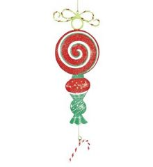 Χριστουγεννιάτικο Στολίδι Καραμέλα - Γλειφιτζούρι, Κόκκινο (25cm)