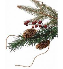 Χριστουγεννιάτικο Παραδοσιακό Δέντρο CHT με Γκι και Κουκουνάρια (2,7m)