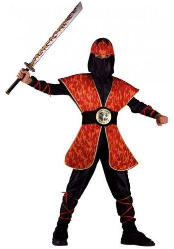 Αποκριάτικη Στολή Ninja της Φωτιάς