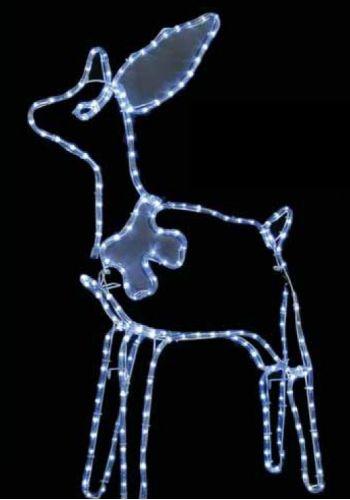 Χριστουγεννιάτικο Φωτιζόμενο Ακρυλικό Ελάφι με 3m Λευκό Θερμό Φωτοσωλήνα NEON LED (120cm)