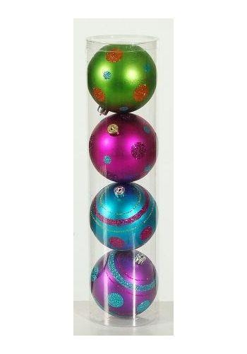 Χριστουγεννιάτικες Μπάλες Οροφής, Πολύχρωμες - Σετ 4 τεμ. (10cm)