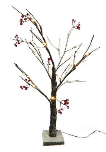 Χριστουγεννιάτικο Φωτιζόμενο Δέντρο, με Γκι και 24  LED (60cm)