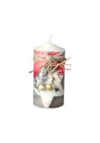 Χριστουγεννιάτικο Διακοσμητικό Κερί με Αστέρι - 15 εκ.