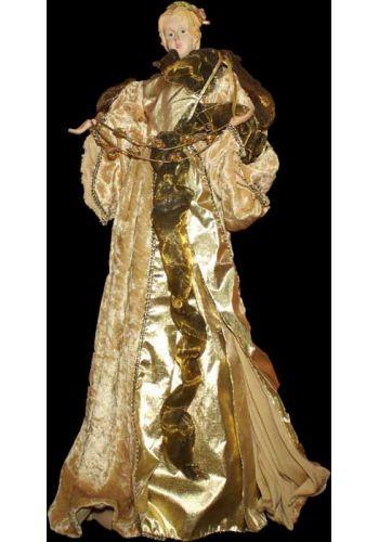 Χριστουγεννιάτικη Κορυφή Δέντρου Άγγελος Χρυσός - 60 cm