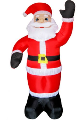 Χριστουγεννιάτικος Φουσκωτός Πλαστικός Άγιος Βασίλης με Φως Κόκκινος (1.80m)