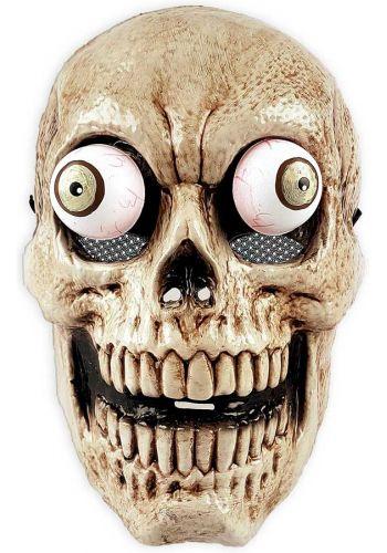 Αποκριάτικη Μάσκα Νεκροκεφαλή με Κινούμενο Στόμα