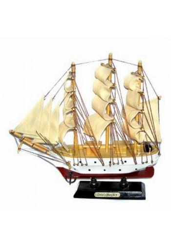 Χριστουγεννιάτικο Ξύλινο Διακοσμητικό Καράβι με Πανιά Discovery (24cm)