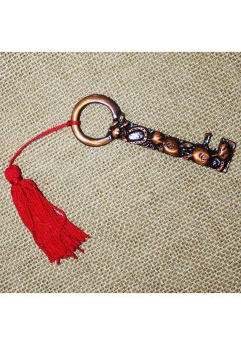 Χριστουγεννιάτικο Γούρι Κλειδί με Κρόσια, 20cm