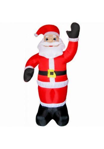Χριστουγεννιάτικος Φουσκωτός Πλαστικός Άγιος Βασίλης Κόκκινος (1.20m) - 1 Τεμάχιο