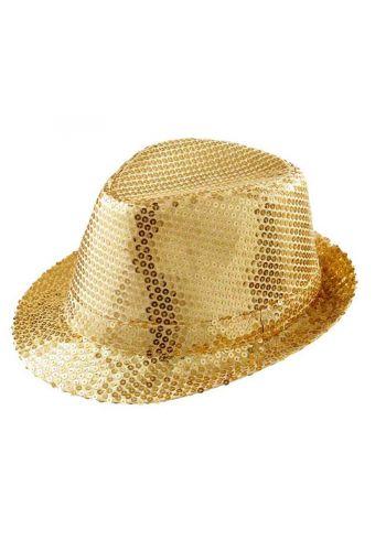 Αποκριάτικο Αξεσουάρ Καπέλο Χρυσό με Πούλιες