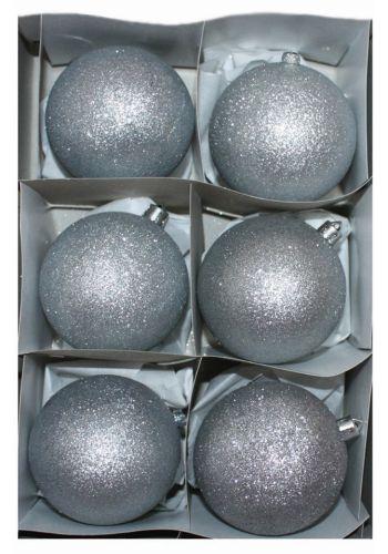 Χριστουγεννιάτικες Μπάλες Ασημί - 6cm ()