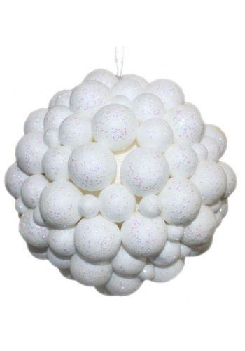 Χριστουγεννιάτικο Στολίδι Οροφής, με Λευκές Μπαλίτσες (15cm)