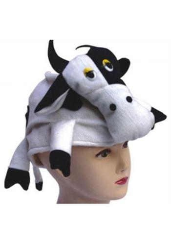 Αποκριάτικο Αξεσουάρ Σκούφος με Αγελάδα Ολόκληρη