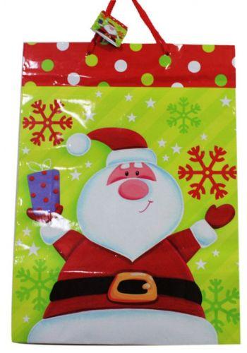 Χριστουγεννιάτικη Τσάντα με Άγιο Βασίλη και Χιονονιφάδες, 45cm