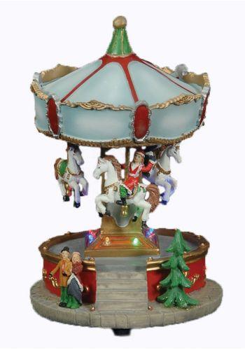 Χριστουγεννιάτικο Κεραμικό Καρουζέλ με LED