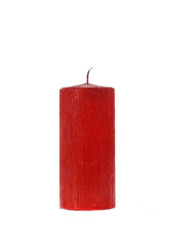 Χριστουγεννιάτικο Διακοσμητικό Κερί,  Κόκκινο (12cm)