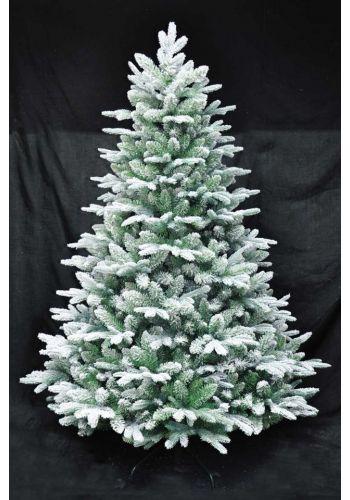Χριστουγεννιάτικο Χιονισμένο Δέντρο FLOCKED PLASTIC (2,4m)