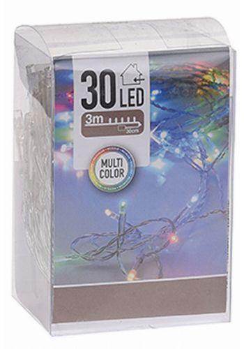 30 Πολύχρωμα Φωτάκια LED, με Μπαταρία (3m)