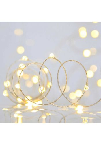 40 Gold Θερμά Φωτάκια LED Copper, με Μπαταρία (2m)