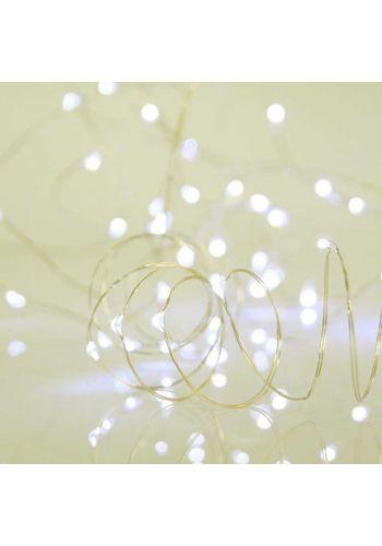 50 Λευκά Θερμά Φωτάκια LED Copper, με Μπαταρία (5m)