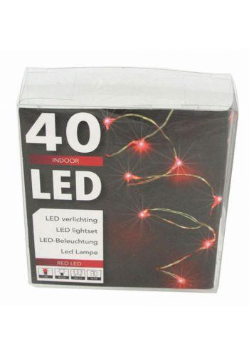 40 Κόκκινα Φωτάκια LED Copper, με Μπαταρία (2m)