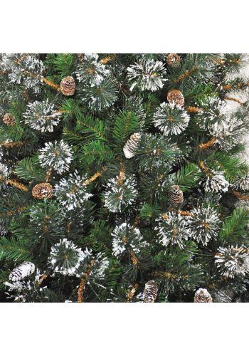 Χριστουγεννιάτικο Χιονισμένο Δέντρο MARYLAND με Κουκουνάρια (1,8m)