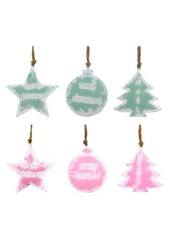 Χριστουγεννιάτικα Μεταλλικά Στολίδια - 6 Σχέδια (11cm)