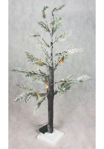 Χριστουγεννιάτικο Φωτιζόμενο Δέντρο, Χιονισμένο με LED (90cm)