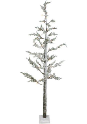 Χριστουγεννιάτικο Φωτιζόμενο Δέντρο, Χιονέ με LED (1,3m)