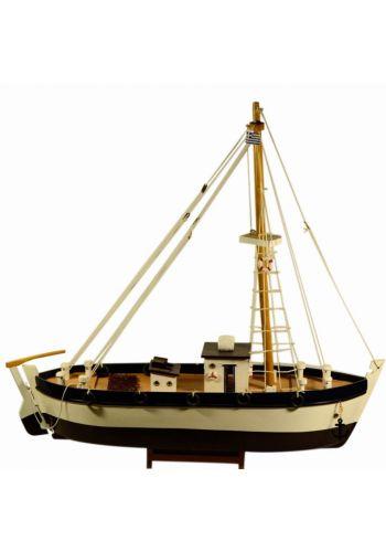 Χριστουγεννιάτικο Ξύλινο Διακοσμητικό Καράβι, Γρι Γρι (70cm)