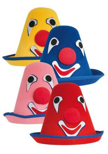 Αποκριάτικο Αξεσουάρ Καπέλο Ψηλό με Κλόουν (4 Χρώματα)