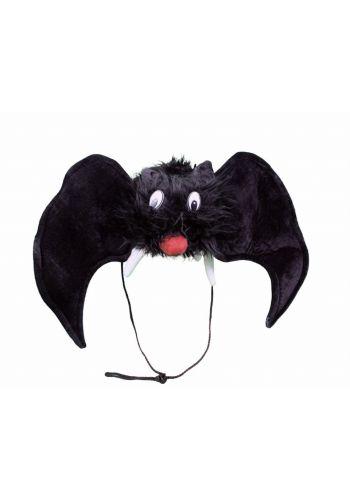 Αποκριάτικο Αξεσουάρ Σκούφος Νυχτερίδα Μαύρη