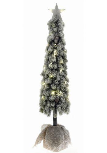 Χριστουγεννιάτικο Φωτιζόμενο Δέντρο, Χιονισμένο, με LED και Αστέρι (1,20m)