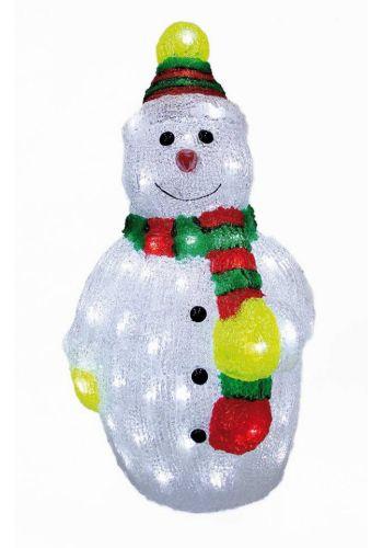 Χριστουγεννιάτικος Φωτιζόμενος Χιονάνθρωπος με LED και Κασκόλ )