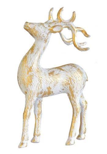 Χριστουγεννιάτικος Διακοσμητικός Τάρανδος Χρυσός (21cm)
