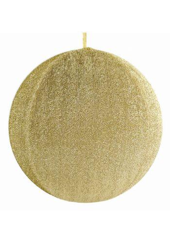 Χριστουγεννιάτικη Χρυσή Μπάλα Οροφής Υφασμάτινη (40cm)