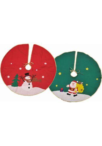 Χριστουγεννιάτικη Ποδιά Δέντρου, σε 2 Χρώματα και Σχέδια (92cm)