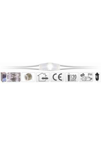 120 Λευκά Ψυχρά Φωτάκια LED Copper Εξωτερικού Χώρου (12m)