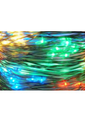 40 Πολύχρωμα Φωτάκια LED Copper Μπαταρίας (2m)