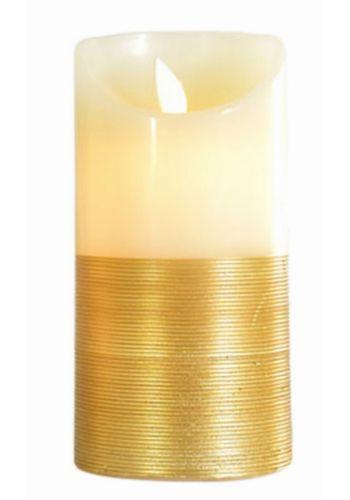 Χριστουγεννιάτικο Διακοσμητικό Κερί, Χρυσό με LED