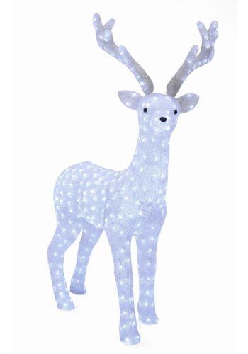 Χριστουγεννιάτικος Φωτιζόμενος Τάρανδος με 430 LED (135cm)