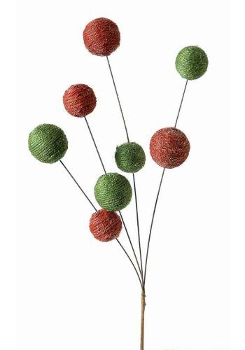 Χριστουγεννιάτικα Διακοσμητικά Κλαδιά Κόκκινο - Πράσινο (62cm)