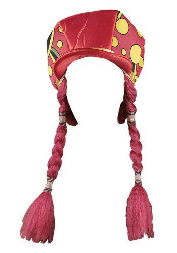Αποκριάτικο Αξεσουάρ Καπέλο Κλόουν Τραγιάσκα, με Κοτσίδες