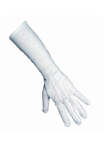 Αποκριάτικο Αξεσουάρ Λευκά Γάντια Μεγάλα