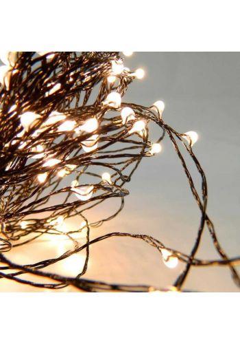 40 Λευκά Θερμά Φωτάκια LED Copper, με Μπαταρία (4m)