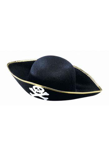 Αποκριάτικο Αξεσουάρ Καπέλο Πειρατή Τσόχινο