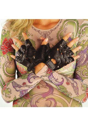 Αποκριάτικα Γάντια Μαύρα Πάνκ